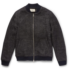 Folk Mélange Wool-Blend Bomber Jacket