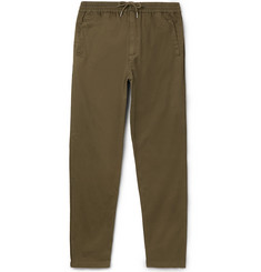 Folk Slim-Fit Tapered Drawstring Cotton Trousers