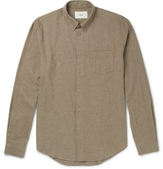 Folk Slim-Fit Button-Down Collar Brushed-Cotton Twill Shirt