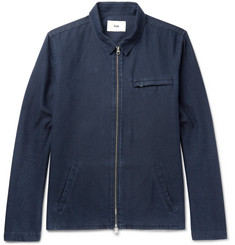 Folk Denim Zip-Up Shirt