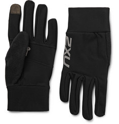 2XU Fleece-Lined Stretch-Jersey Tech Gloves
