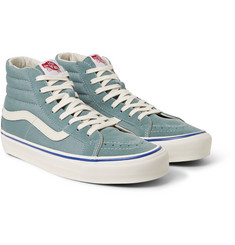 Vans - OG Sk8-Hi LX Suede and Canvas High-Top Sneakers