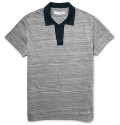 Orlebar Brown Felix Mélange Cotton-Piqué Polo Shirt