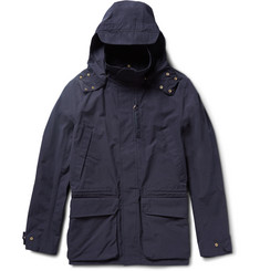 The Workers Club - Cotton-Canvas Hooded Jacket