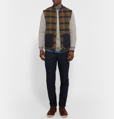 The Workers Club - Checked Wool Gilet