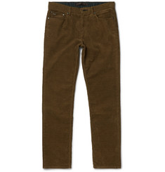 Michael Kors Slim-Fit Stretch-Cotton Corduroy Trousers