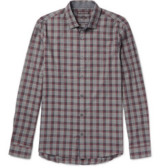 Michael Kors Reece Slim-Fit Checked Cotton Shirt