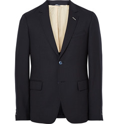 Gant Rugger Blue Slim-Fit Wool-Hopsack Suit Jacket