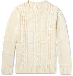 Gant Rugger Cable-Knit Wool and Cotton-Blend Sweater