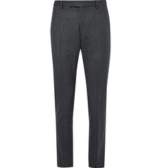 Gant Rugger Grey De Luxe Slim-Fit Mélange Wool-Flannel Suit Trousers