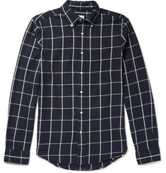 Gant Rugger Brooklyn Slim-Fit Button-Down Collar Checked Cotton Shirt