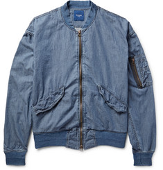 Beams - MA-1 Cotton-Chambray Bomber Jacket