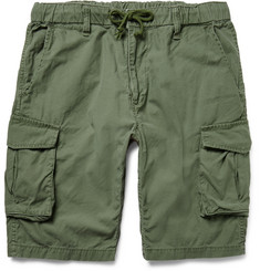 Beams Slim-Fit Washed-Cotton Cargo Shorts