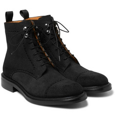 O'Keeffe - Felix Pebble-Grain Nubuck Brogue Boots