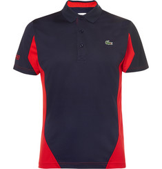 Lacoste Tennis Two-Tone Cotton-Piqué Polo Shirt