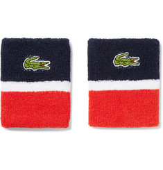 Lacoste Tennis Tricolour Stretch Cotton-Blend Terry Sweatbands