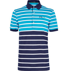 RLX Ralph Lauren Two-Tone Striped Stretch-Piqué Polo Shirt