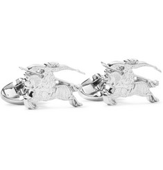Burberry - Engraved Silver-Tone Cufflinks