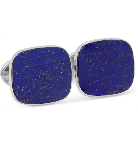 trianon male trianon 18karat white gold lapis cufflinks blue