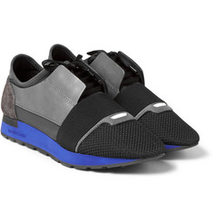 Balenciaga - Neoprene, Leather and Mesh Sneakers