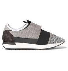 Balenciaga Panelled Leather, Neoprene and Mesh Sneakers