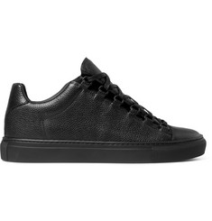 Balenciaga Arena Full-Grain Leather Sneakers