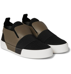 Balenciaga - Leather, Suede and Mesh Slip-On Sneakers