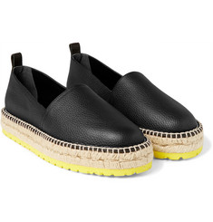 Balenciaga - Full-Grain Leather Espadrilles