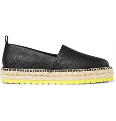Balenciaga Full-Grain Leather Espadrilles