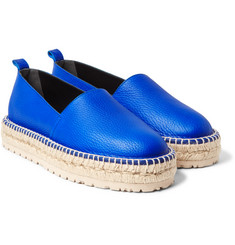 Balenciaga - Textured-Leather Espadrilles