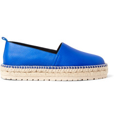 Balenciaga Textured-Leather Espadrilles