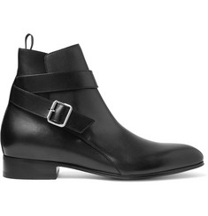 Balenciaga Leather Jodphur Boots