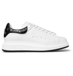 Alexander McQueen Embellished Exaggerated-Sole Leather Sneakers