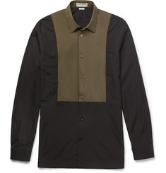 Balenciaga Slim-Fit Shell-Panelled Cotton-Poplin Shirt