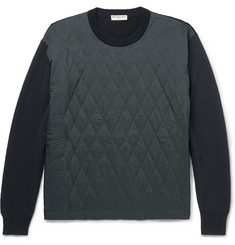 Balenciaga Quilted Shell and Wool-Blend Sweater