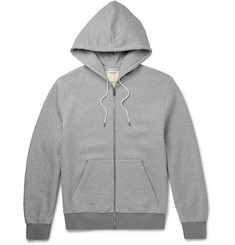 Balenciaga Fleece-Back Cotton-Jersey Zip-Up Hoodie