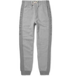 Balenciaga Slim-Fit Tapered Fleece-Back Cotton-Jersey Sweatpants