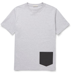 Balenciaga Leather-Trimmed Cotton-Jersey T-Shirt