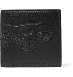 Alexander McQueen Embossed Textured-Leather Billford Wallet