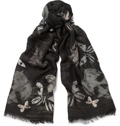 Alexander McQueen - Printed Silk and Modal-Blend Scarf