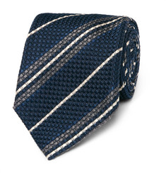 Kingsman + Drake's Striped Woven Silk Tie
