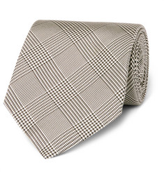 Kingsman + Drake's Prince of Wales Checked Silk Tie