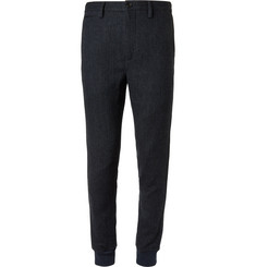 Burberry - Slim-Fit Herringbone Wool Trousers