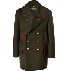 Burberry Oversized Double-Breasted Cashmere and Wool-Blend Coat