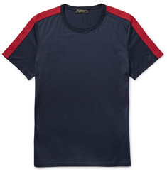 Burberry Slim-Fit Grosgrain-Trimmed Cotton-Jersey T-Shirt