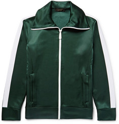 Burberry Striped Satin-Jersey Track Jacket