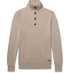 Burberry - Funnel-Neck Cashmere and Silk-Blend Sweater