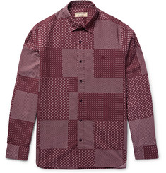 Burberry London Slim-Fit Patchwork-Print Cotton-Poplin Shirt