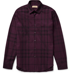 Burberry - Slim-Fit Checked Cotton-Twill Shirt