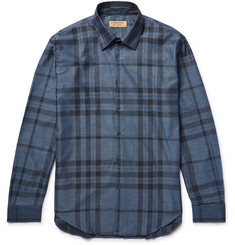 Burberry Slim-Fit Checked Cotton-Twill Shirt